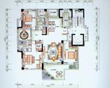 4房2厅2卫户型 偶数层
