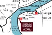 中海・钱塘山水位置图