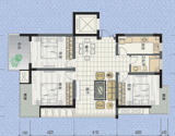 左邻右舍115平米3室2厅1卫