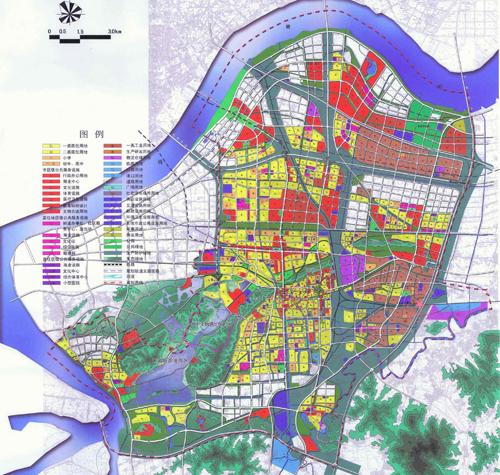 萧山城区分区规划图(2010-2020年)(查看大图)-萧山城区分区规划