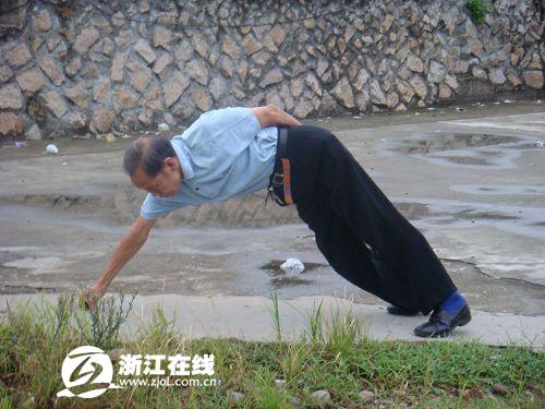 【摄影】青田:清晨早锻炼的老人