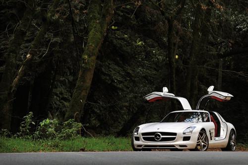 经典重现 海外试梅赛德斯 奔驰sls amg高清图片
