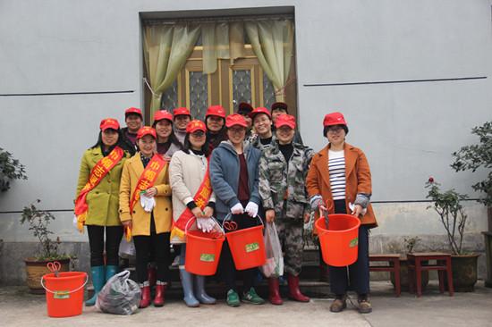 保安乡巾帼志愿者宣讲队。