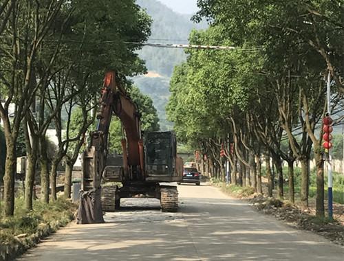大堰镇主要道路路面改造工程(常照至泰安亭)施工图片。