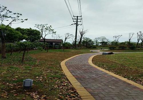 汝霖路小公园完工后。