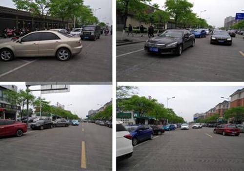 集士港镇加大力度清理占道停车,道路沿线(人行道、车行道上)无占道停放机动车、非机动车。